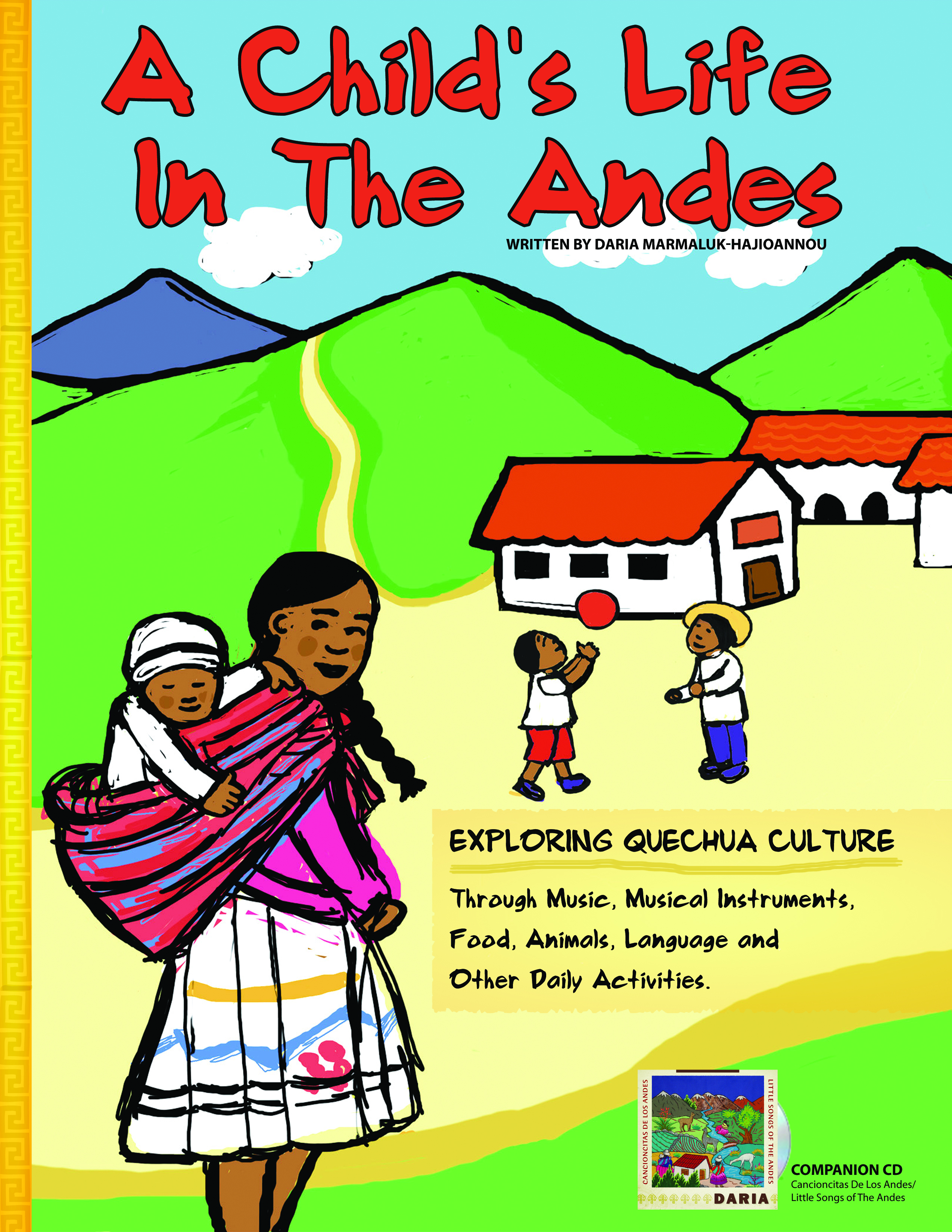 Daria - Cancioncitas Booklet Cover - Hispanic Heritage Month Blog Hop