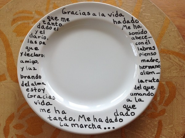 text rich plate
