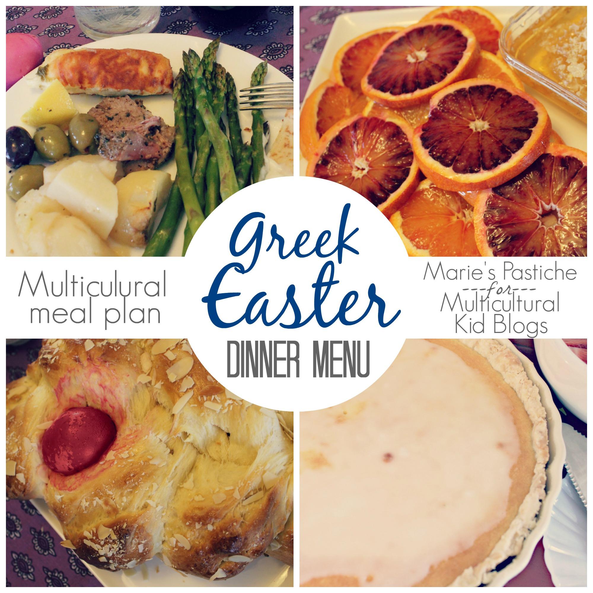 Greek Easter Dinner Menu: Multicultural Meal Plan {Marie's Pastiche}