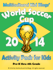 Multicultural Kid Blogs' World Soccer Cup 2014 Activity Pack for Kids