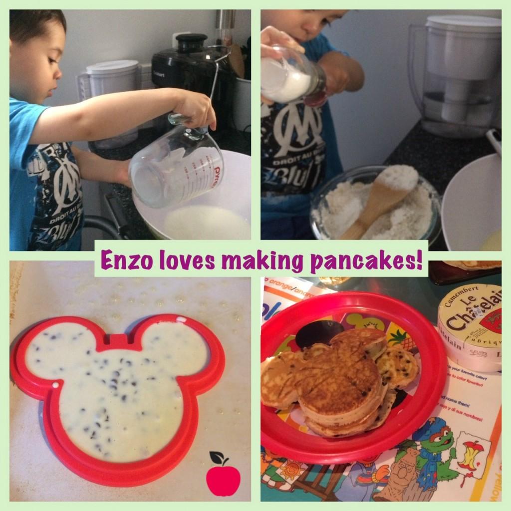 Enzo making pancakes