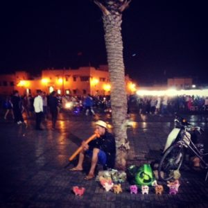 Marrakesh's Djem al Fna square on a Ramadan evening.
