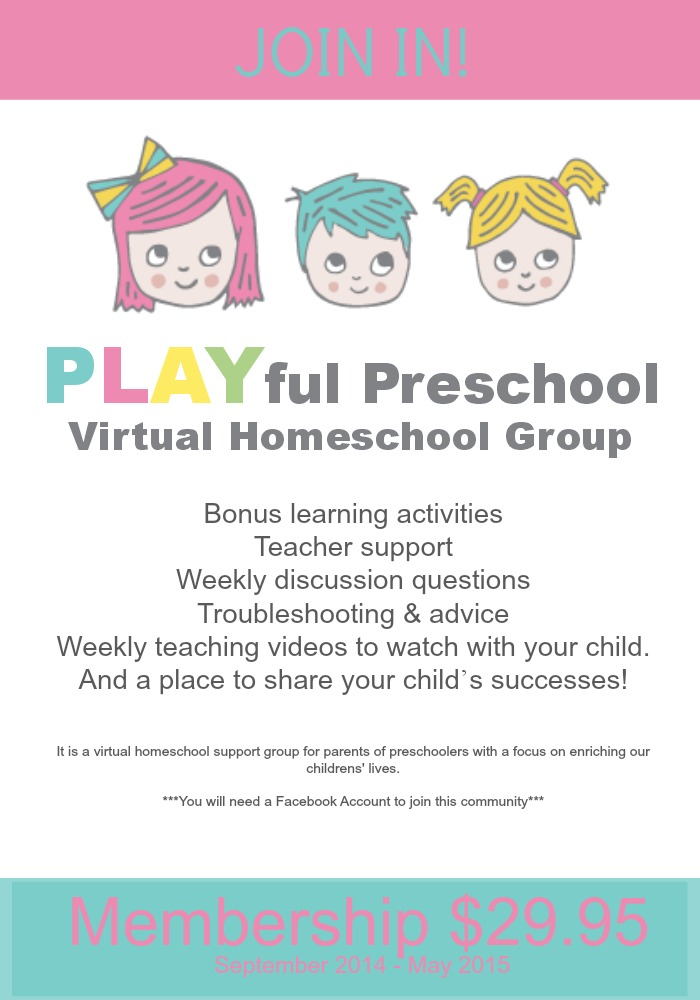 Call for Bloggers: PLAYful Preschool Virtual Homeschool Group