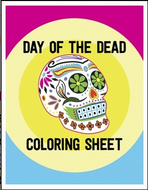 Day of the Dead Coloring Sheet- Kid World Citizen