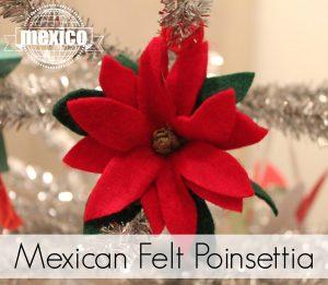 Mexican Felt Poinsettia ornament