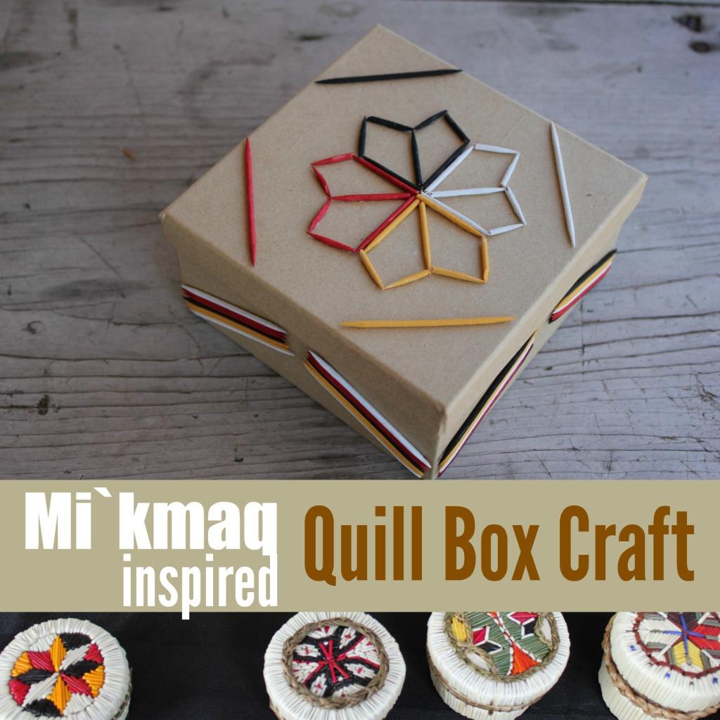 Mi`kmaq Quill Box button
