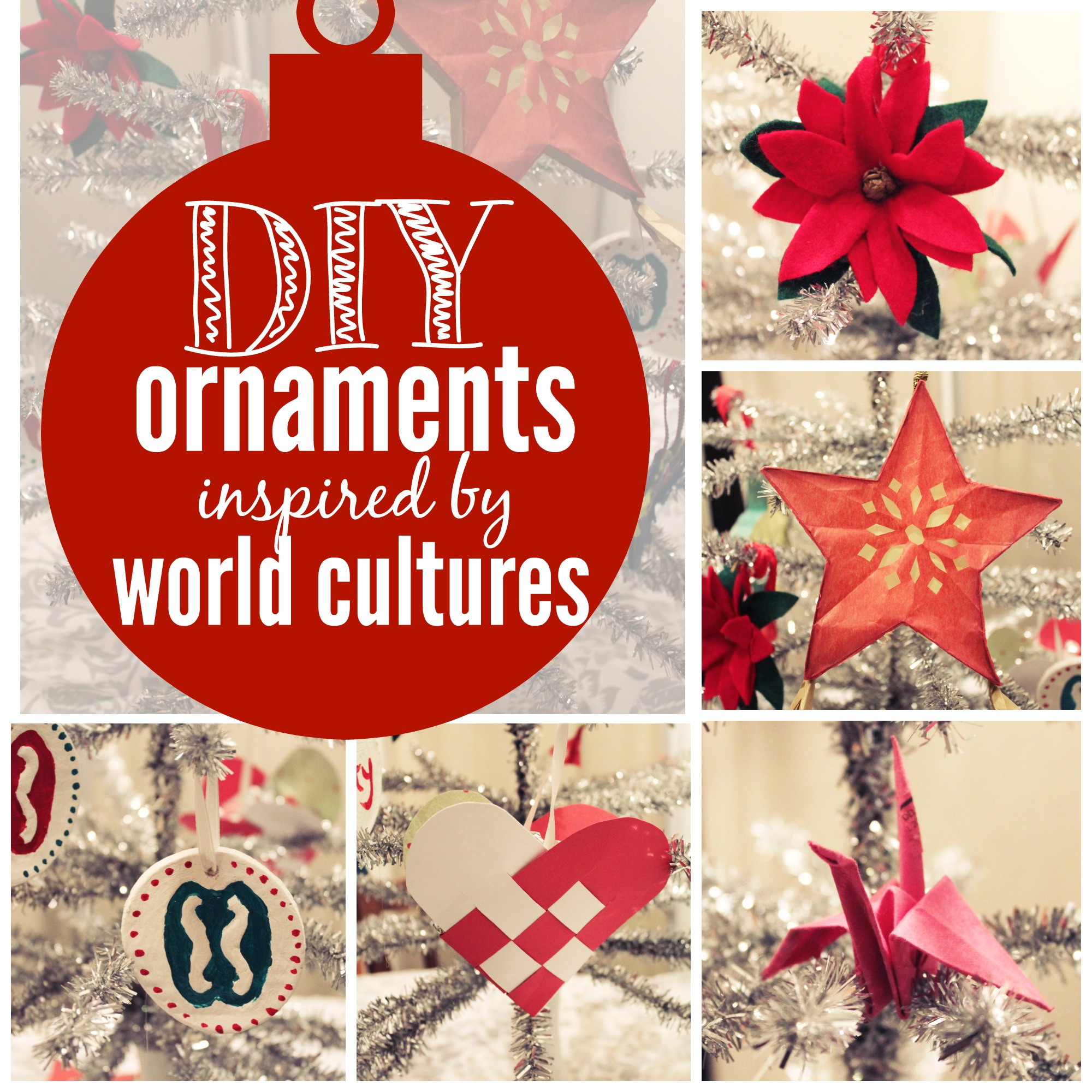 Diy christmas decorations 2014 - Multicultural Ornaments Collage