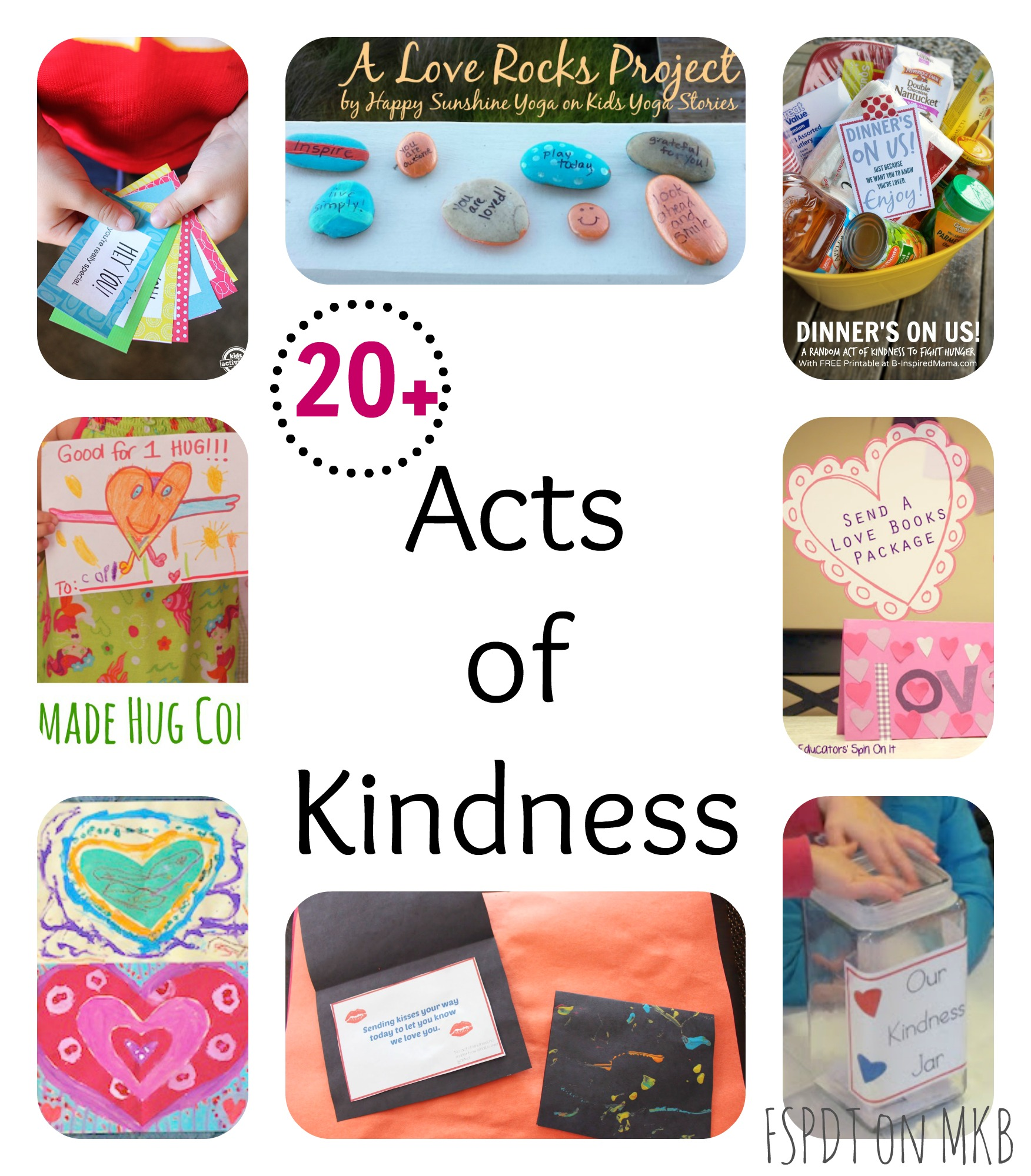 Kindness crafts for preschoolers -  20 Acts Of Kindness Jpg