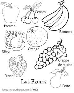 Fruit Printable French | MulticulturalKidBlogs.com