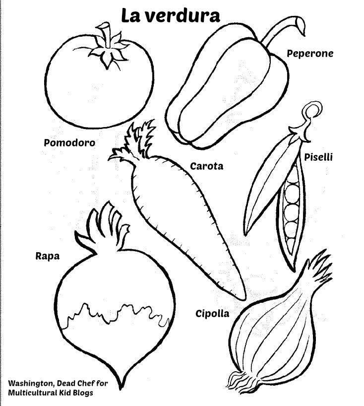 Vegetable Printable Italian