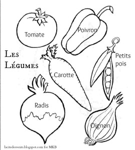 Vegetable Printables French | MulticulturalKidBlogs.com