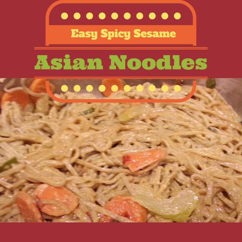 Easy Spicy Sesame Asian Noodle Recipe