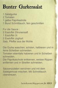 Bunter Gurkensalat (german recipe)