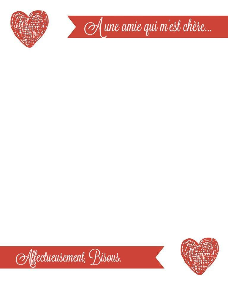 French Valentines Day Love Letter AMIE