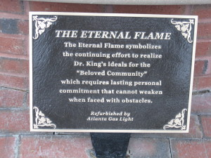 MLK Memorial Flame