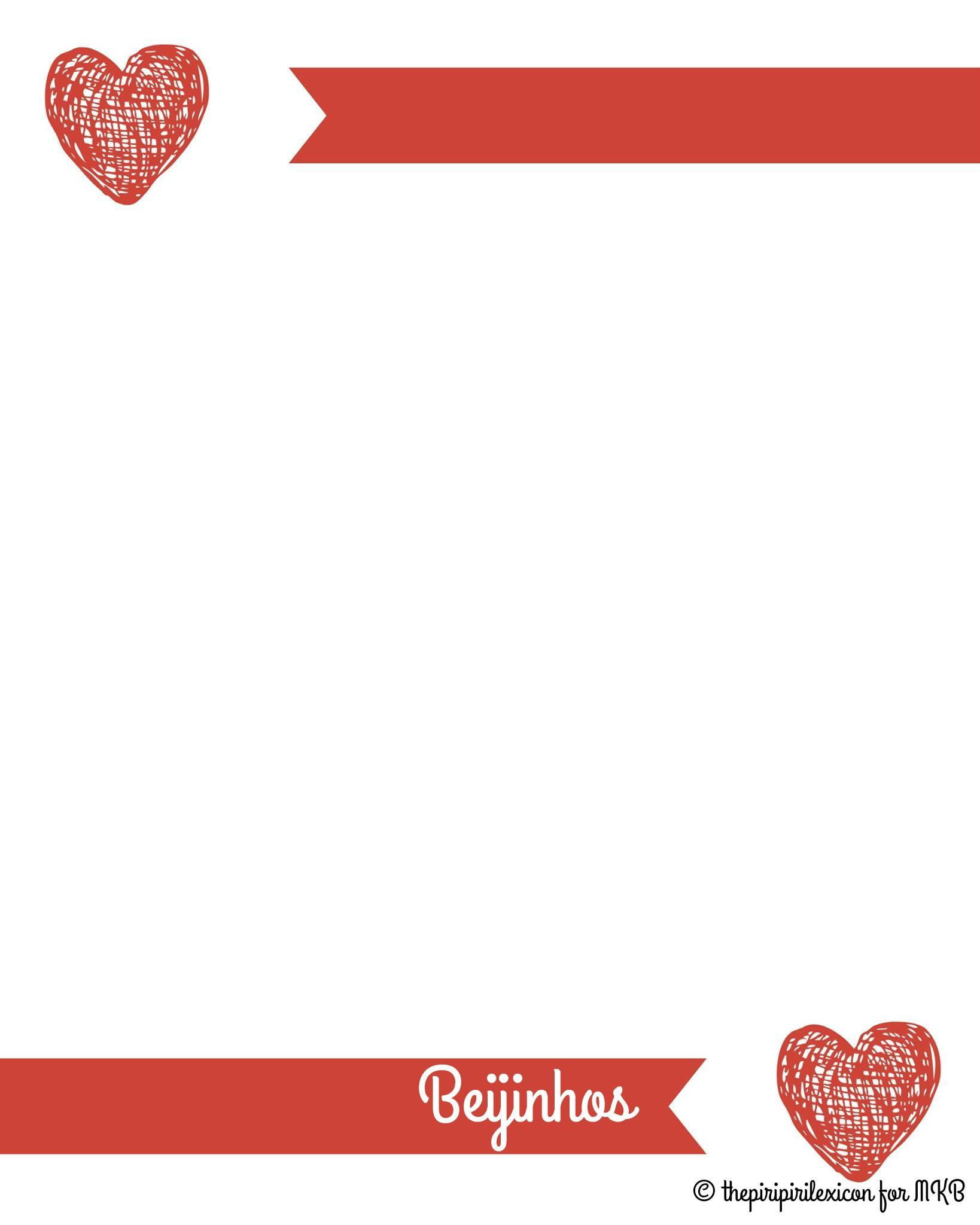 Portuguese Valentines Day love letter