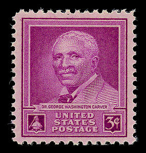 """Stamp US 1948 3c Carver"". Licensed under Public Domain via Wikimedia Commons"