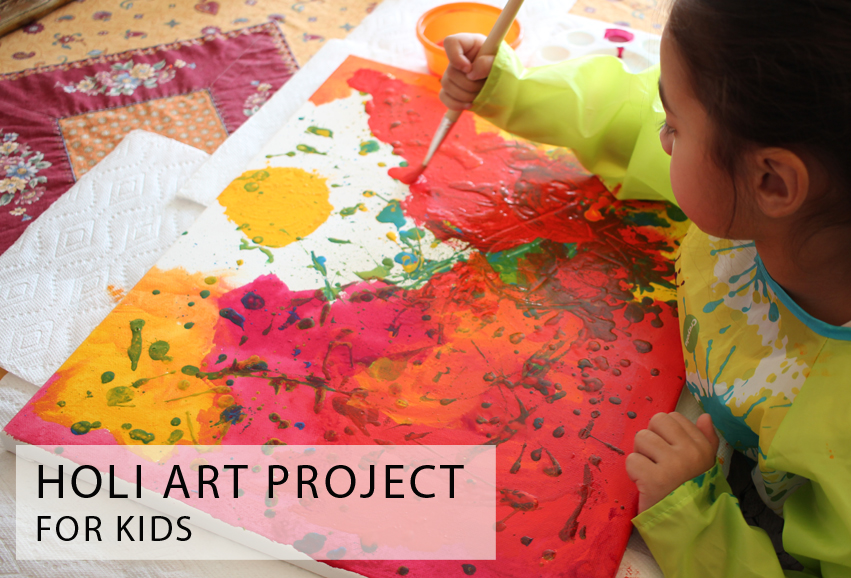 Holi Art Project for Kids