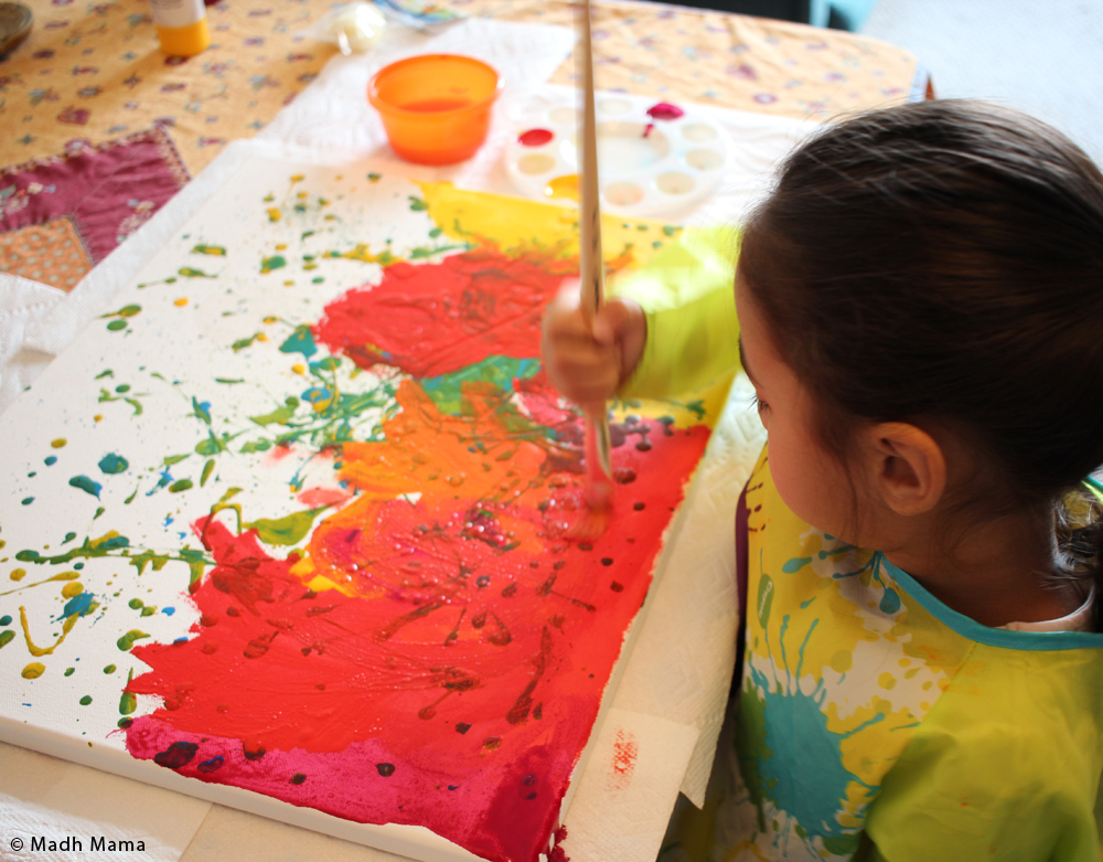 Holi Art Project for Kids - Multicultural Kid Blogs