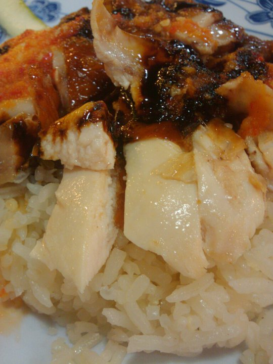 visiting a hawker centre for Chicken rice in Sumptuous Singapore