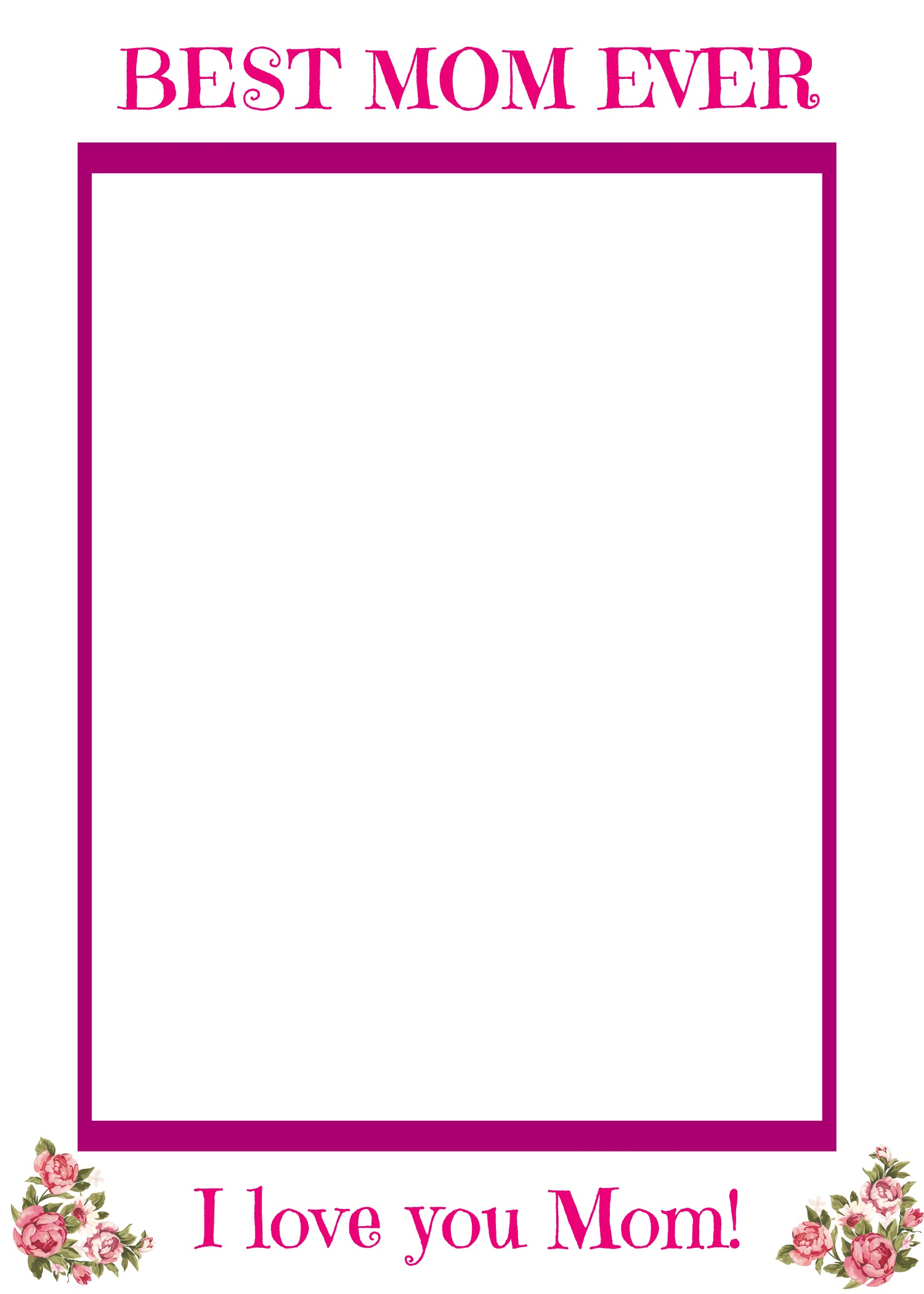 Free Multilingual Printable Mother S Day Picture Frame