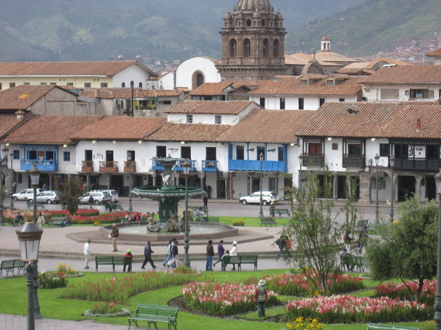 Plaza de Armas del Cusco in the Peruvian Andes