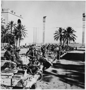 British tanks on Tripoli's waterfront; Discover Libya with Multicultural Kid Blogs