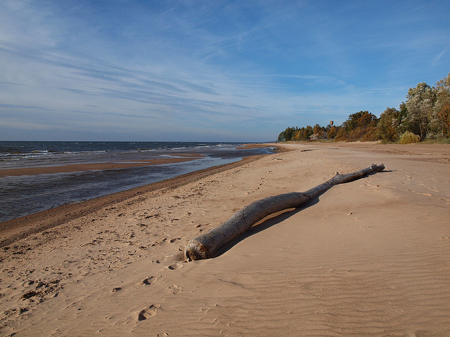 wild beach in Latvia