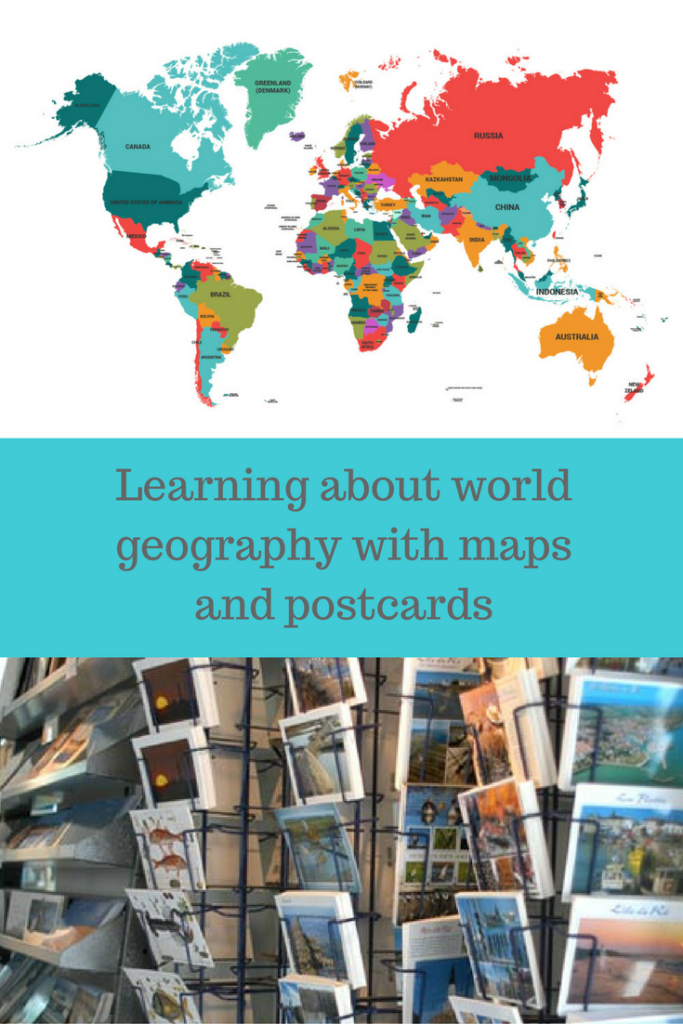 World Geography Activity with Maps and Postcards