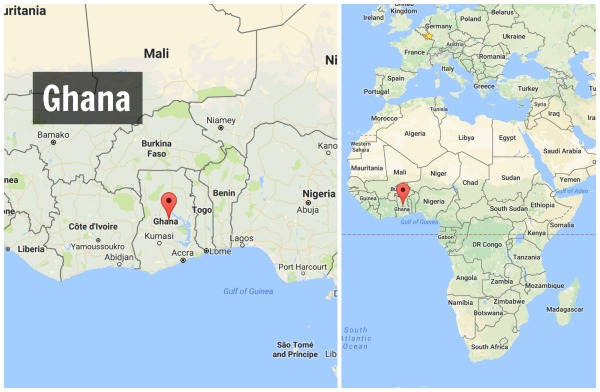 Fun Facts about Ghana - Map - Kid World Citizen