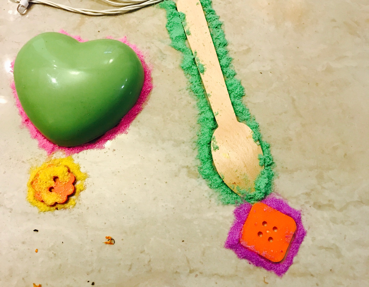 Diwali craft using spoons and cookie cutter rangoli Multicultural Kid blogs