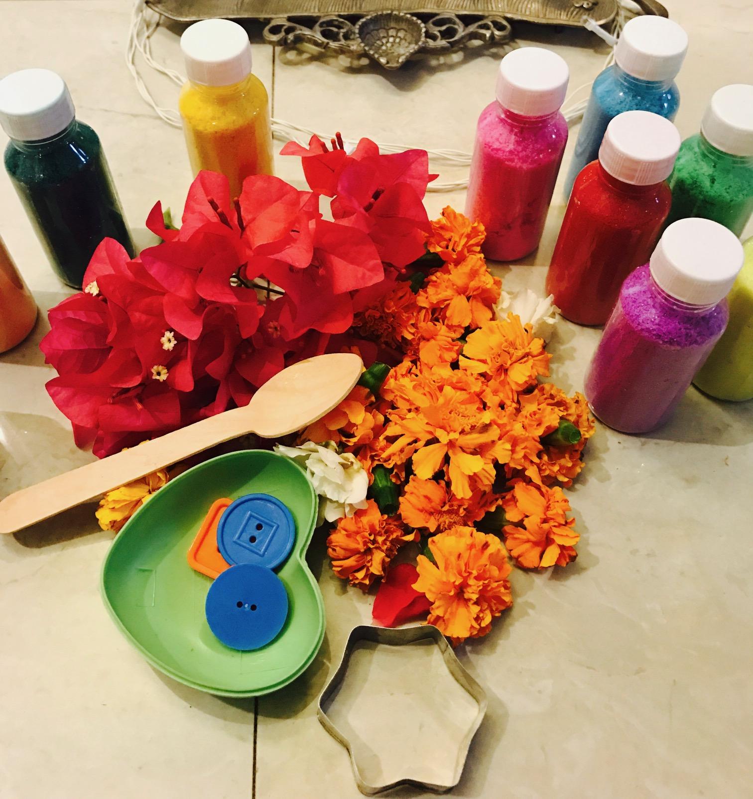 Make your own Diwali Rangoli | Multicultular KId Blogs