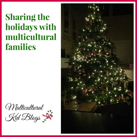 Multicultural families celebrate the holidays