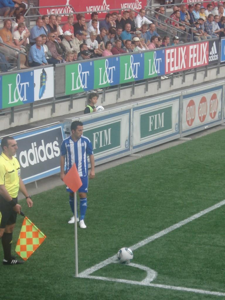 World cup HJK Helsinki v Bangor, Finland, summer 2011