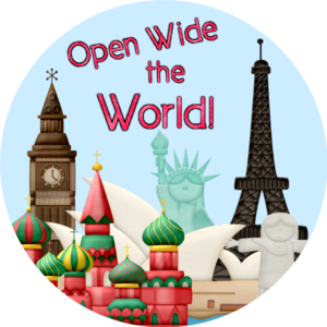 World Cup - Open Wide the World circle logo