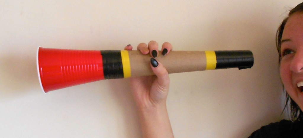 Make Your Own Kids World Cup Vuvuzela - Plus a Giveaway! - Daria's Music on Multicultural Kid Blogs