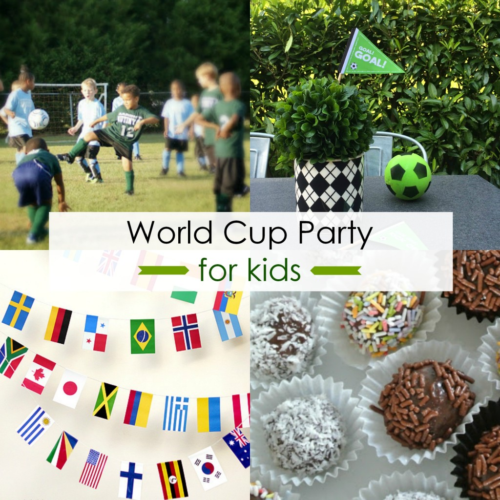 world cup party collage
