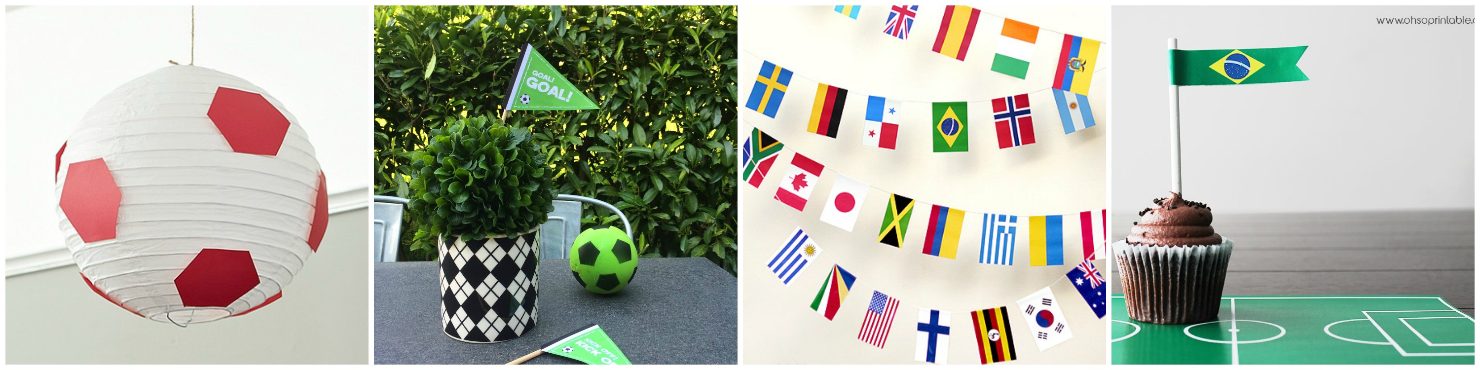 World Cup Party Decor Collage