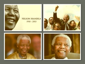 Nelson Mandela collage
