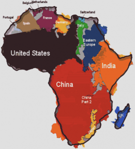 "Figure 1: Kai Krause, ""The True Size of Africa"""