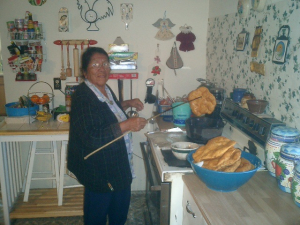 mrs. martha toya and frybread