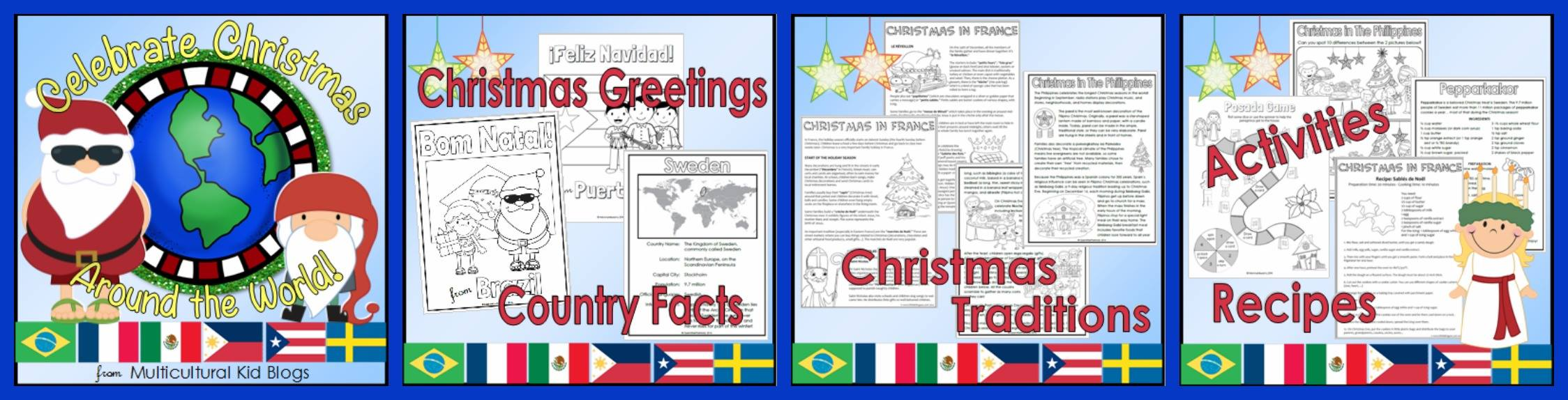 celebrate christmas around the world multicultural kid blogs printable pack