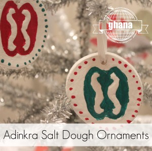 Adinkra Salt Dough Ornaments