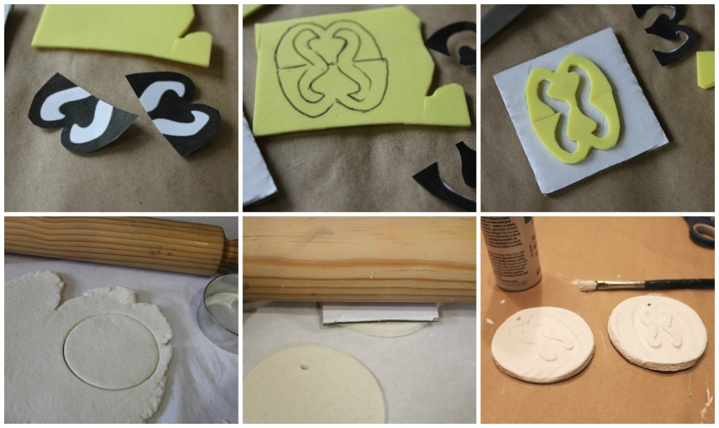 Adinkra inspired ornaments Collage