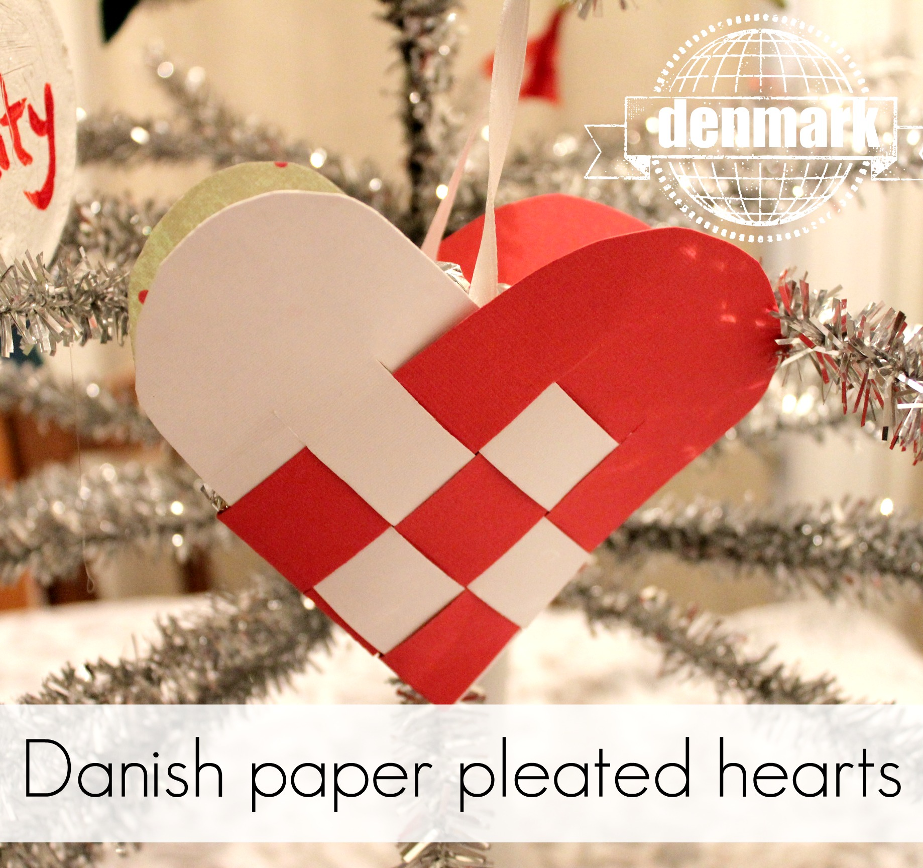 danish paper pleated heart ornaments