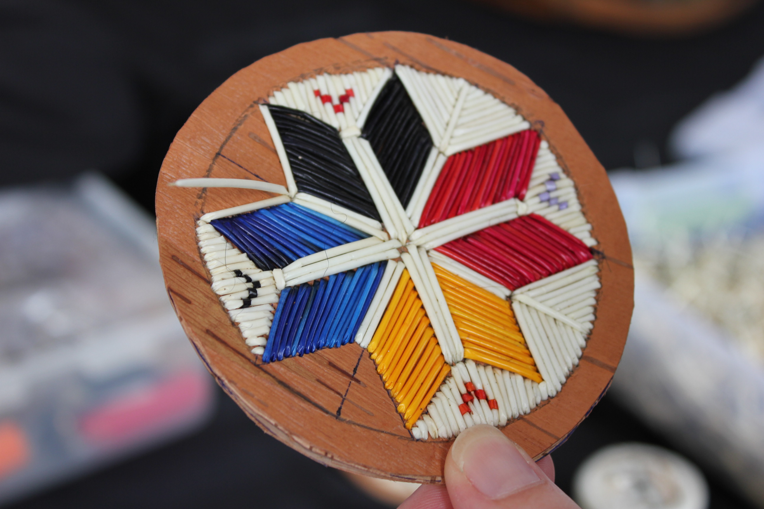 Explore mi 39 kmaq culture quillwork craft for native for Native crafts for sale