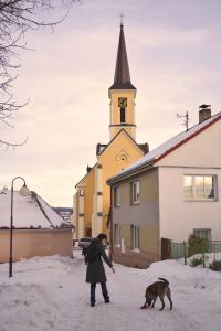 A church in a small village in South Bohemia