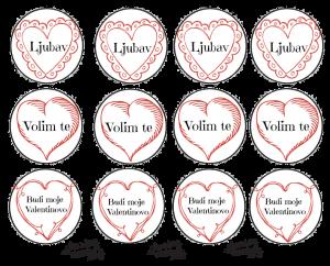 Croatian Valentine Cupcake Toppers