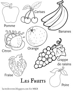 Fruit Printable French | MulticulturalKidBlogs.com