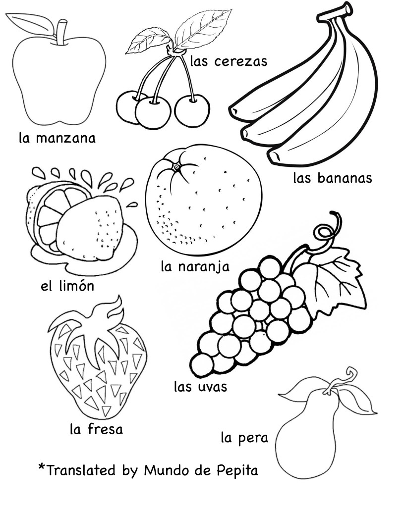 Spanish Fruit Printables | MulticulturalKidBlogs.com